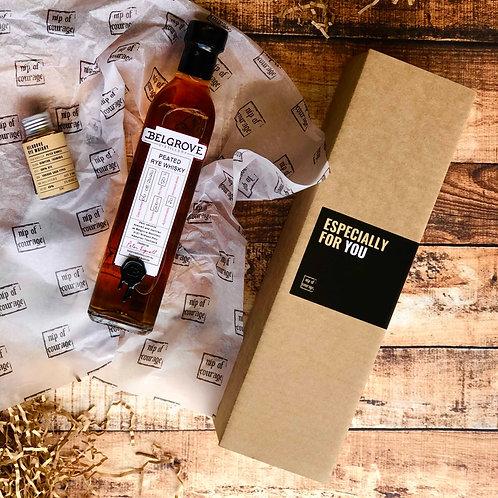 Belgrove Peated Rye Whisky Gift Pack 50% 500ml