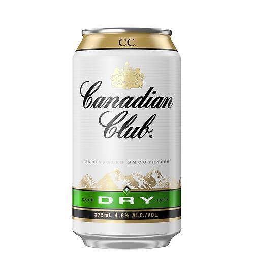 Canadian Club & Dry Cans 10x375mL 4.8%