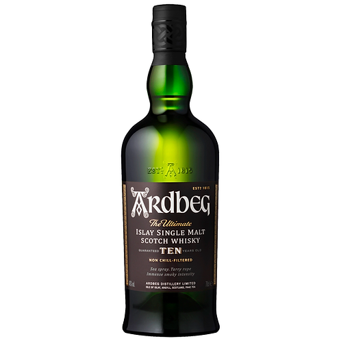 Ardbeg 10 Year Old Scotch Whisky 700mL 46%