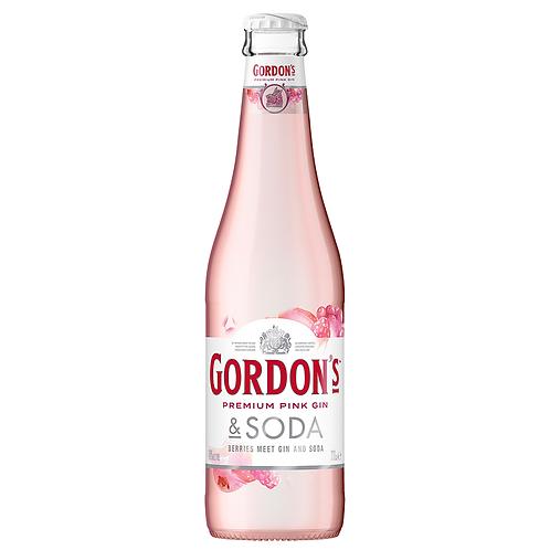 Gordon's Pink Gin & Soda Bottles 4x330mL 4%