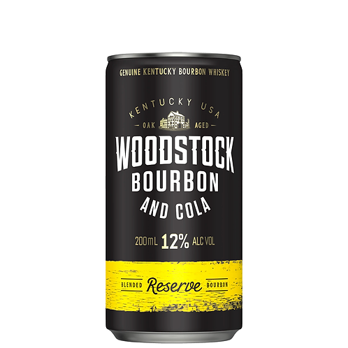 Woodstock Bourbon & Cola Cans 200mL 12%