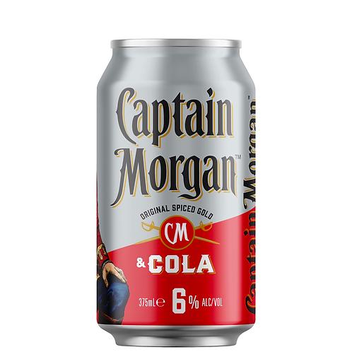 Captain Morgan Original Spiced Gold & Cola Cans 4x375mL 6%