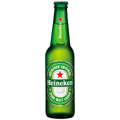 Heineken Lager Bottles 24x330mL 5.0%
