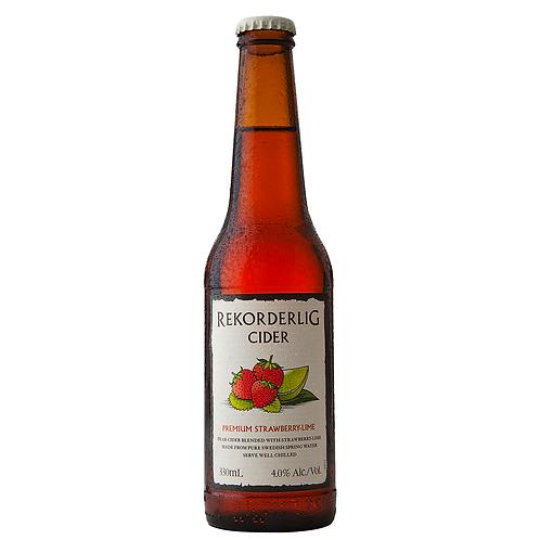 Rekorderlig Premium Strawberry & Lime Cider Bottles 4x355mL 4%