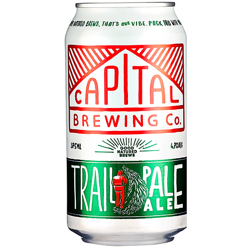 Capital Brewing Co. Trail Pale Ale Cans 24x375mL 4.7%