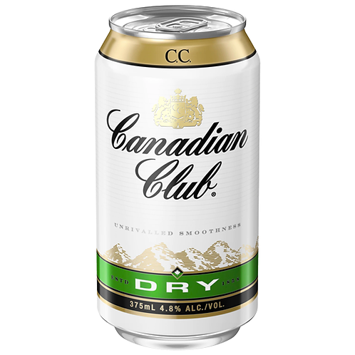 Canadian Club & Dry Cans 24x375mL 4.8%
