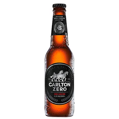 Carlton Zero Non-Alcoholic Beer Bottles 330mL