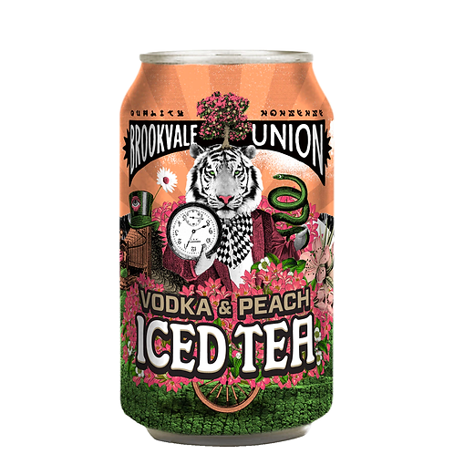 Brookvale Union Vodka & Peach Iced Tea Cans 6x330mL 4%