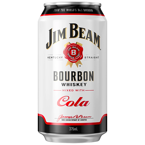 Jim Beam & Cola Cans 24x375mL 4.8%