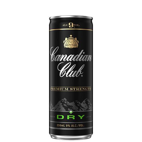 Canadian Club Premium & Dry Cans 4x250mL 9%