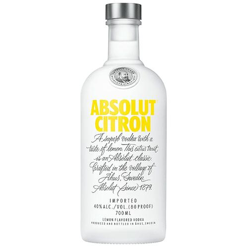 Absolut Citron Vodka 700mL 40%