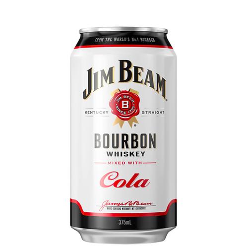 Jim Beam & Cola Cans 10x375mL 4.8%