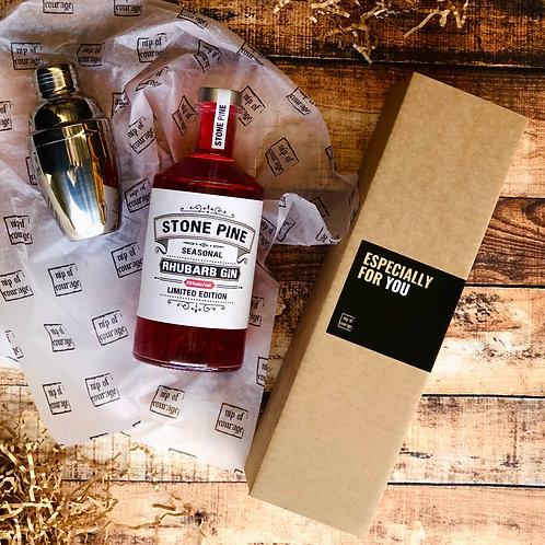 Stone Pine Rhubarb Gin Gift Pack 25% 700ml