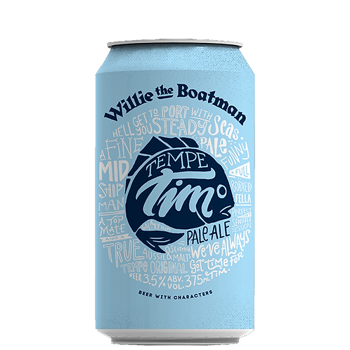 Willie the Boatman Tempe Tim Pale Ale Cans 375mL 3.5%