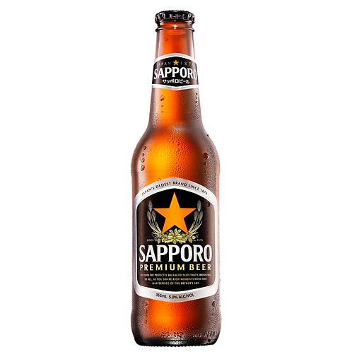 Sapporo Premium Beer Bottles 355mL 5%