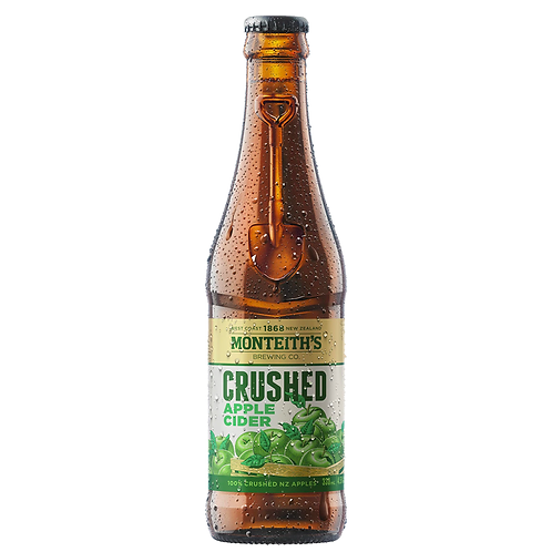 Monteith's Crushed Apple Cider Bottles 4x330mL 4.5%