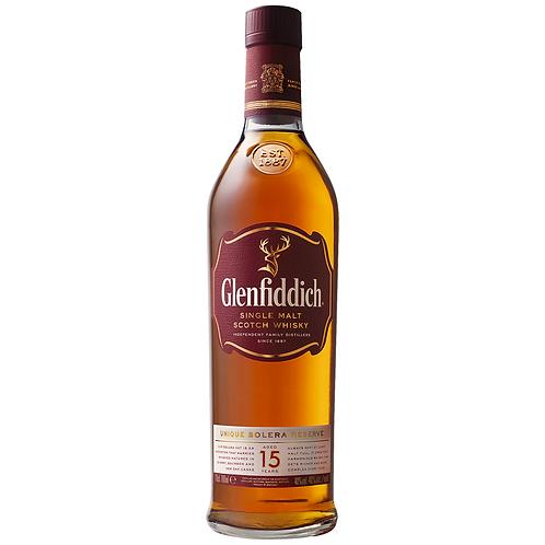 Glenfiddich 15 Year Old Single Malt Scotch 700mL 40%