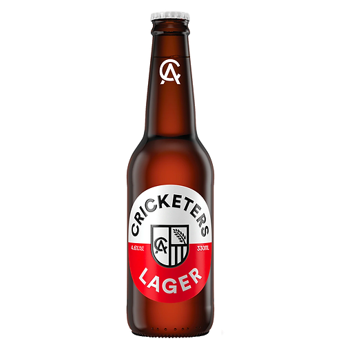 Cricketers Arms Lager Bottles 330mL 4.6%