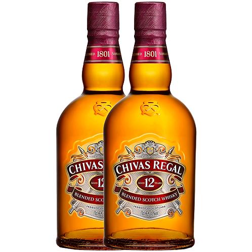 Chivas Regal 12YO Blended Scotch Whisky 2x700mL 40%