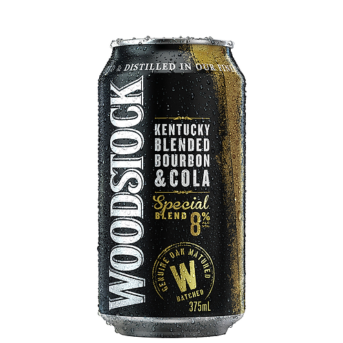 Woodstock Bourbon & Cola Cans 375mL 8%
