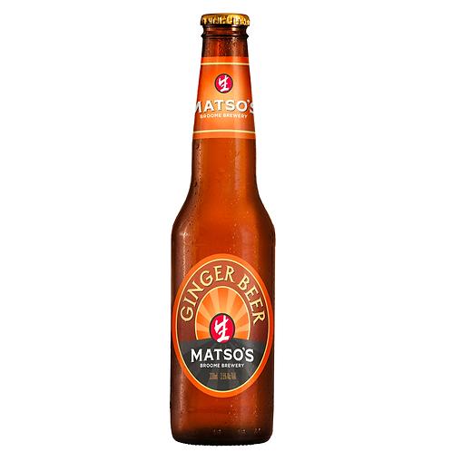Matso's Ginger Beer Bottles 330mL 3.5%