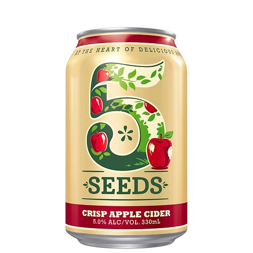Tooheys 5 Seeds Crisp Apple Cider Cans 345mL 5%