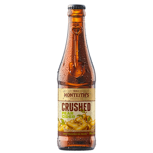 Monteith's Crushed Pear Cider Bottles 4x330mL 4.5%