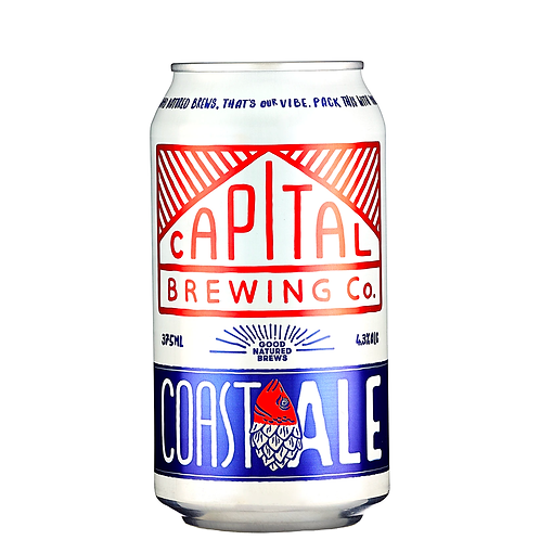Capital Brewing Co. Coast Ale Cans 375mL 4.3%