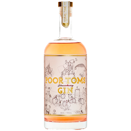 Poor Toms Strawberry Gin 700mL 40%