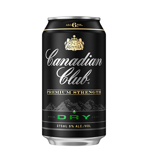 Canadian Club Premium Whisky & Dry Cans 10x375mL 6%