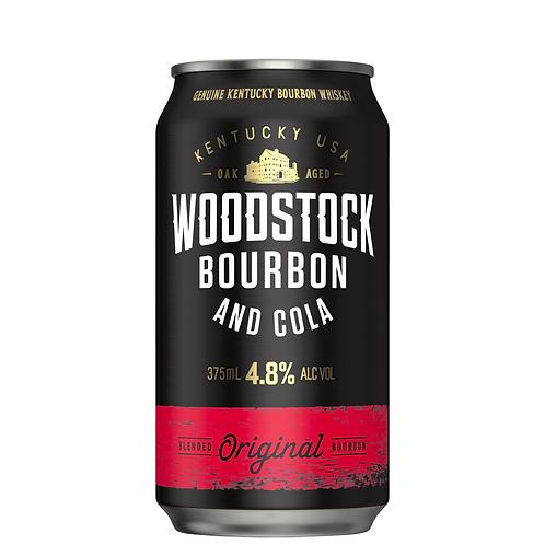 Woodstock Bourbon & Cola Cans 10x375mL 4.8%