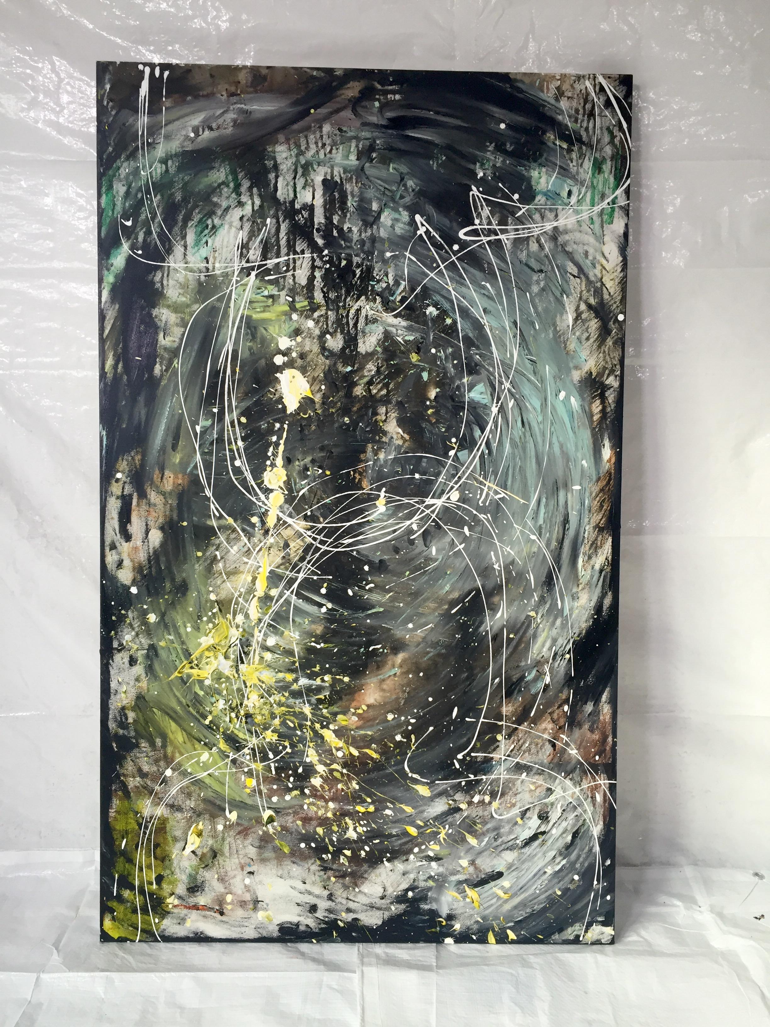 Olicorno - ''Work [#126] Être deux'' (36''x60'') 2225$