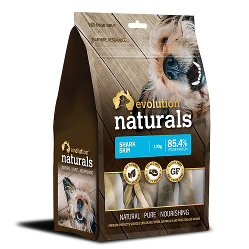 Evolution  Naturals Shark Skin Dog Treat 100g
