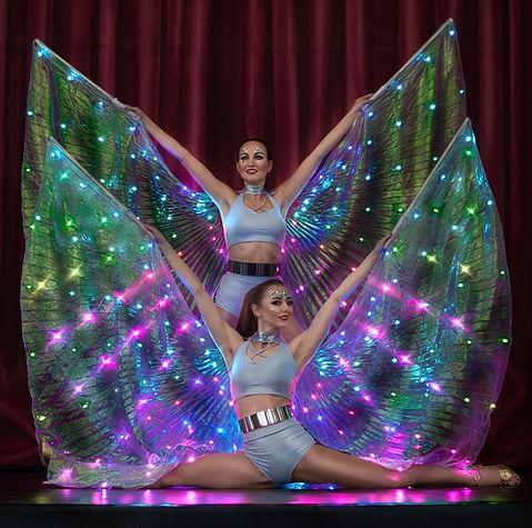 LED Wings Flügel   Licht Show aus München