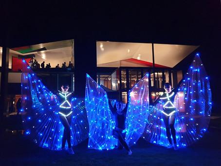 """LED Tanzshow und Licht Jonglage von """"LED Edelsteine"""" in der Schweiz"""
