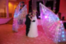 Led Hochzeitstanz begleiten | Led Wings für Hochzeit