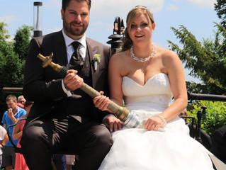 Herzliche Gratulation dem jungen Brautpaar Aga und Sabi