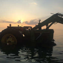 Tractor in Water