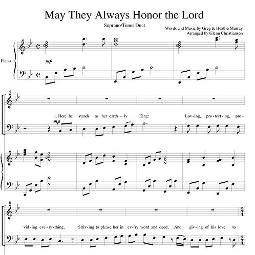May They Always Honor The Lord - Sheet Music - pdf