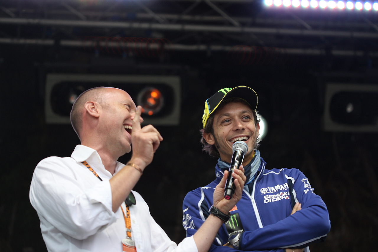On stage with VR46