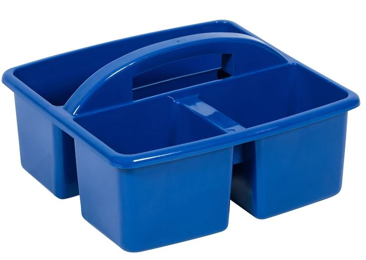 Small Plastic Caddy Primary Blue