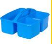 Small Plastic Caddy light Blue