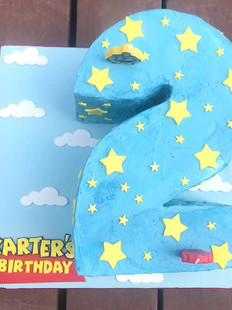 A ginormous toy story cake for Karter's
