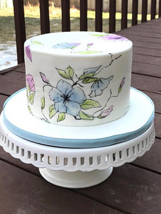 Painted florals for a 70th birthday.jpe