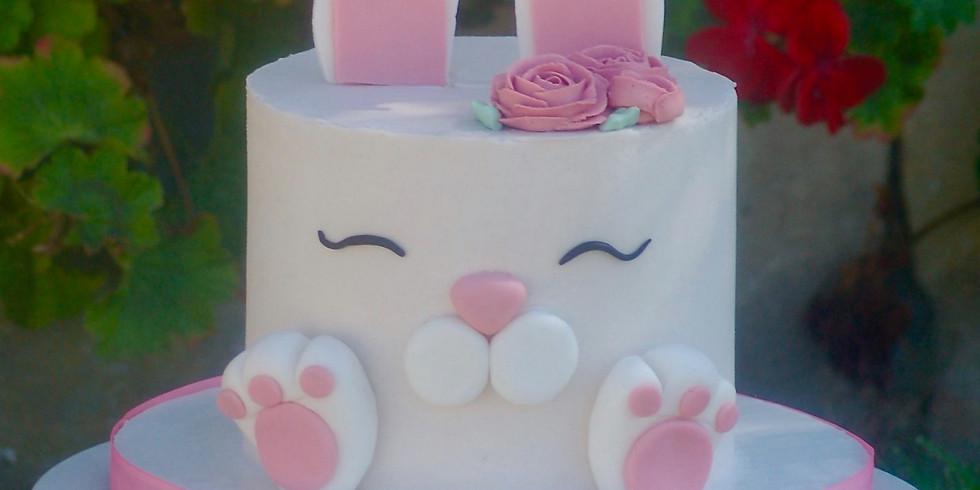 Online Bunny Face Cake Class