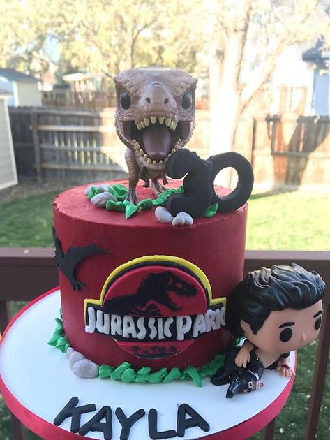 Fun buttercream cake for Kayla's 30th! #