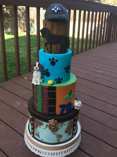 A fun custom cake for a joint party yest