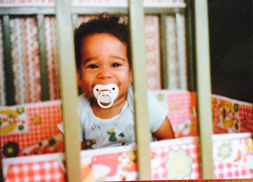 My husband Marcos as a baby
