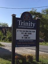 Trinity Church Sign