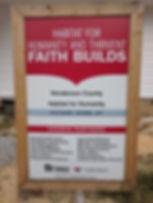 Habitat Church Partners Sign